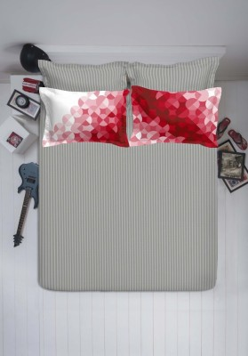 Spaces by Welspun Cotton Striped Double Bedsheet