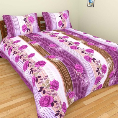 Bhavy Polycotton Abstract Double Bedsheet
