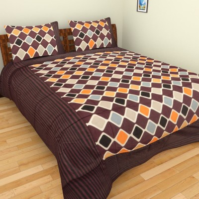 Spangle Cotton Geometric Double Bedsheet