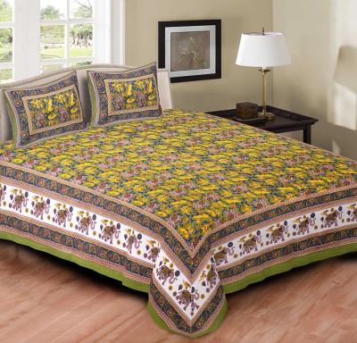 Jaipur Print Market Cotton Animal Queen sized Double Bedsheet