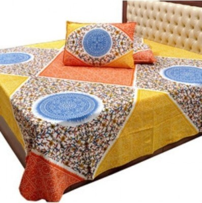 Big Onlineshop Cotton Silk Blend Floral Double Bedsheet
