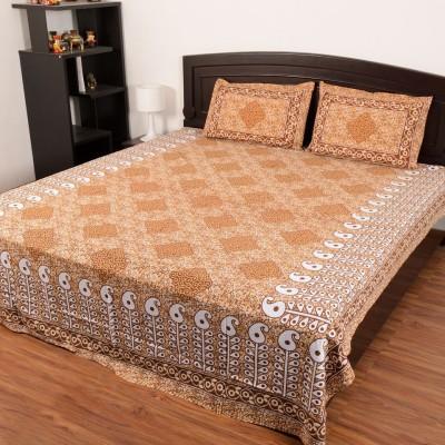 RajasthaniKart Cotton Printed Double Bedsheet