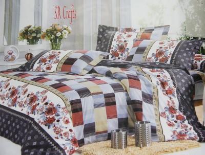 SR Crafts Cotton Floral Double Bedsheet