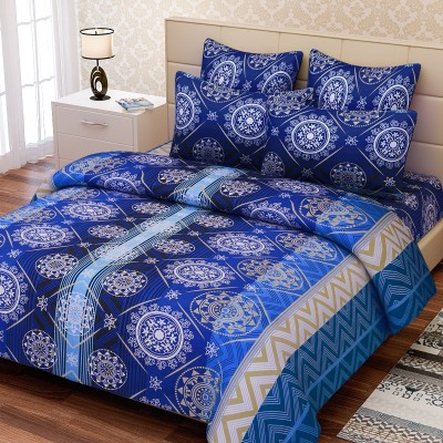 SEJ by Nisha Gupta Cotton Abstract King sized Double Bedsheet