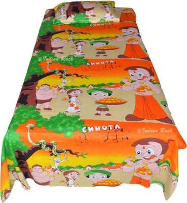 Indian Rack Cotton Printed Single Bedsheet
