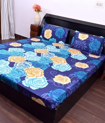 Kaaj Designs Cotton Silk Blend Floral Queen sized Double Bedsheet