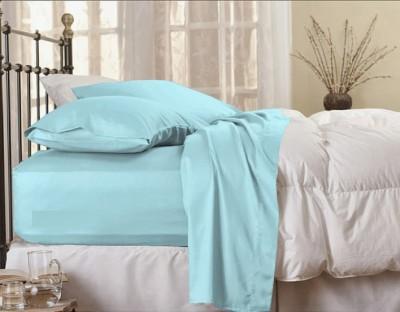 MYCK Cotton Plain Queen sized Double Bedsheet