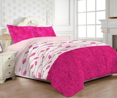 MYCK Cotton, Satin Floral Double Bedsheet