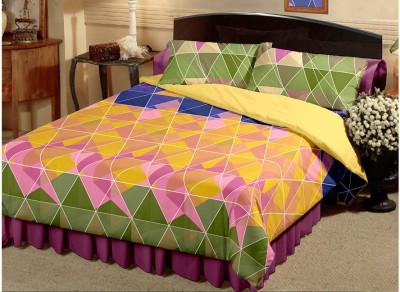 Raymond Cotton Geometric Double Bedsheet