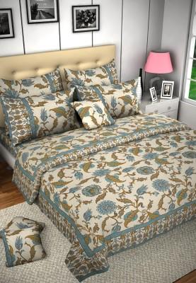 Shilpi Cotton Floral Double Bedsheet