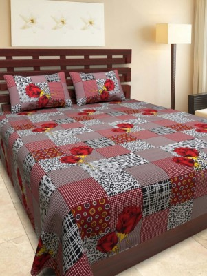 mahirfurnishing Cotton Checkered Double Bedsheet
