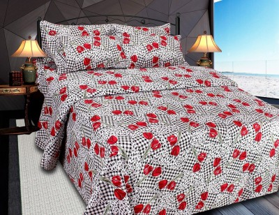 Needdle Cotton Printed Double Bedsheet
