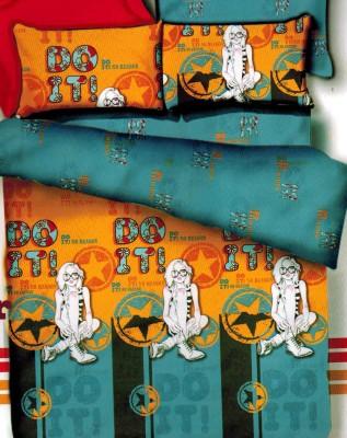 Home Basics Polycotton Printed Double Bedsheet