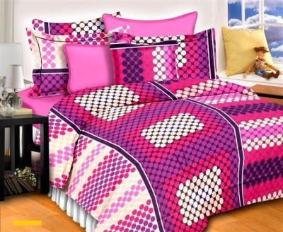 Aalidhra Techtex Cotton Polka Double Bedsheet