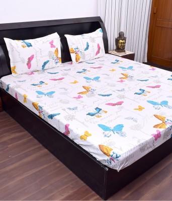 Kaaj Designs Cotton Animal Double Bedsheet