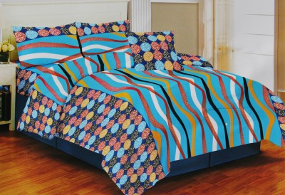 NS Cotton Striped Double Bedsheet