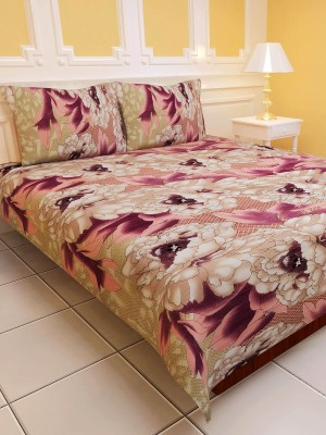 Sai Arpan Polyester Abstract Double Bedsheet