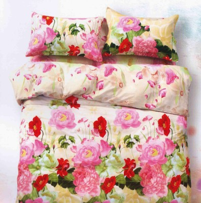 Mk Retail Satin Printed Queen sized Double Bedsheet