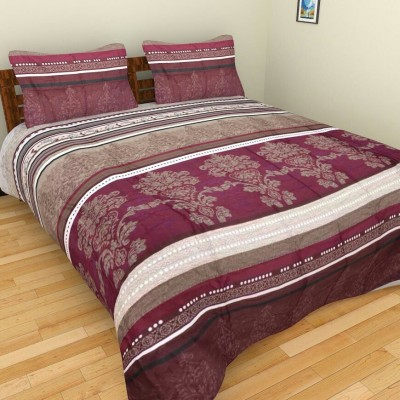 garima 7 star Polycotton Checkered Double Bedsheet