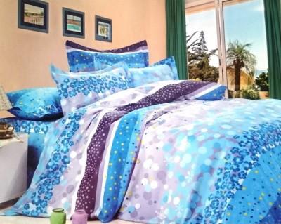rangoli overseas Polycotton Abstract Double Bedsheet