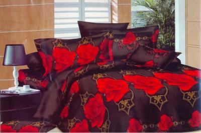 Flamingo Cotton Floral Double Bedsheet