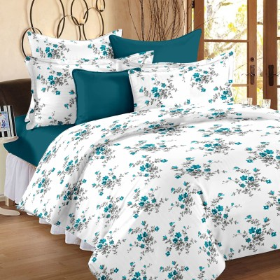 Ahmedabad Cotton Cotton Floral Single Bedsheet