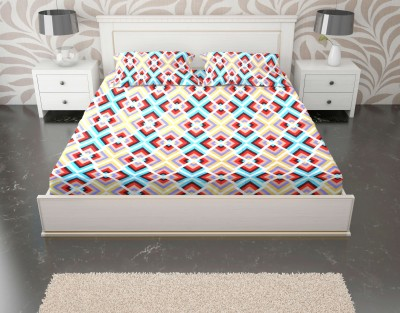 Enaakshi Cotton Geometric Double Bedsheet