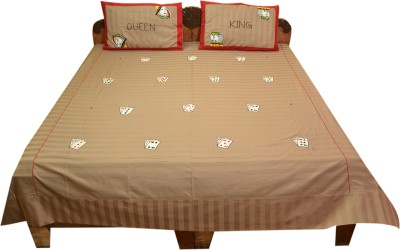 Bichawan Cotton Embroidered Double Bedsheet