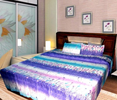 UNITED MONK Polycotton Printed Double Bedsheet