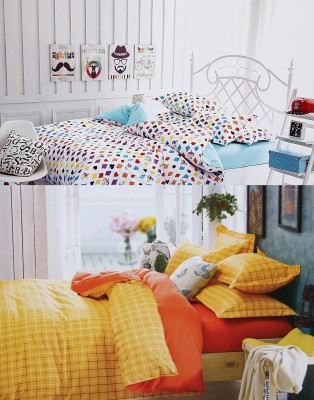 Home Basics Polycotton Abstract Queen sized Double Bedsheet