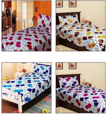 Homefab India Cotton Printed Single Bedsheet