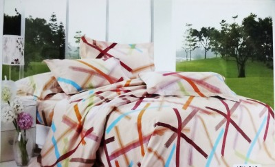 Rubru Cotton Striped Double Bedsheet