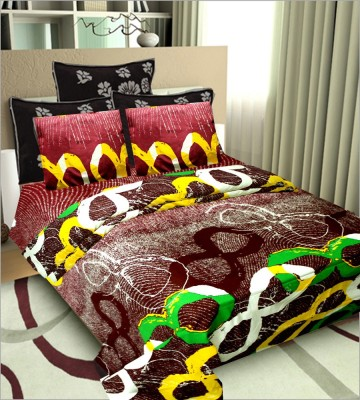 SHOPGRAB Cotton Printed Double Bedsheet
