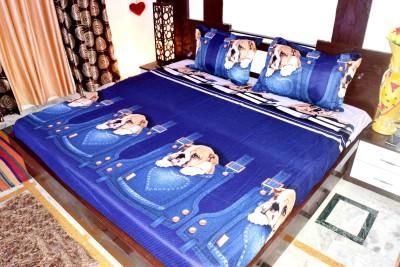 Hashcart Cotton Cartoon Double Bedsheet