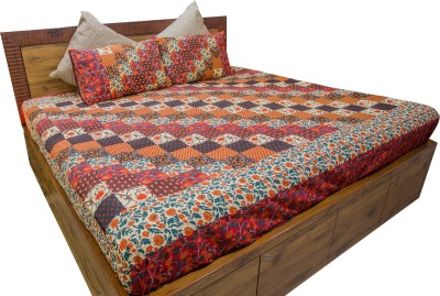Stole & Yarn Cotton Floral Single Bedsheet