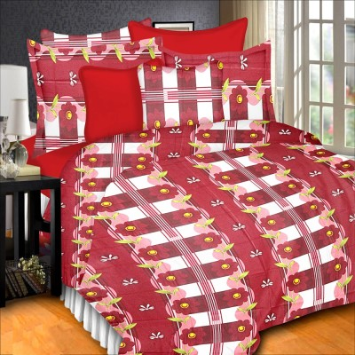 Prisha Cotton Floral Double Bedsheet