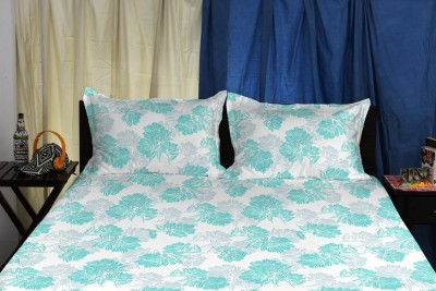 Spaces by Welspun Cotton Abstract King sized Double Bedsheet