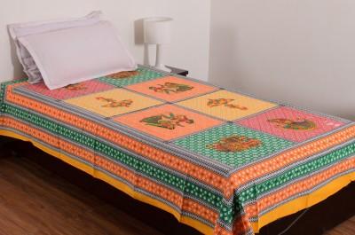 Vivid Rajasthan Cotton Paisley Single Bedsheet