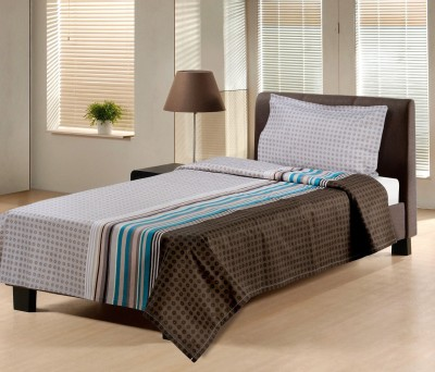 Hemlines Cotton Striped Single Bedsheet