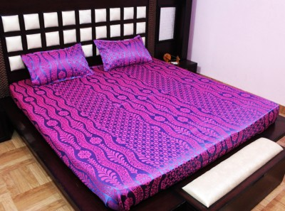 Milan Polycotton, Jacquard, Silk Abstract King sized Double Bedsheet