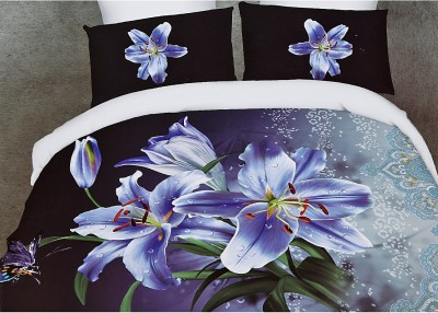 Home Basics Polycotton Floral Queen sized Double Bedsheet