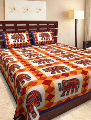DnF Cotton Printed Double Bedsheet