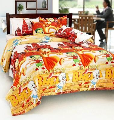 Home Castle Polyester Cartoon Double Bedsheet