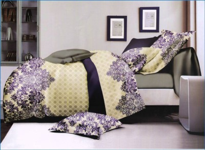 Skap Polycotton Floral King sized Double Bedsheet