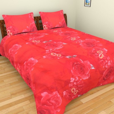 Parkash Fabrications Polyester Floral Double Bedsheet