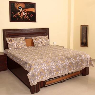 Craftuno Cotton Cartoon Double Bedsheet