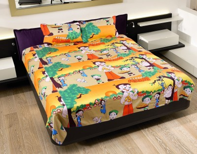 The Home Story Cotton Abstract Double Bedsheet