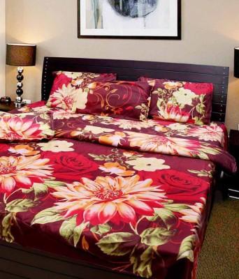 Panipat Textile Hub Cotton Floral Double Bedsheet