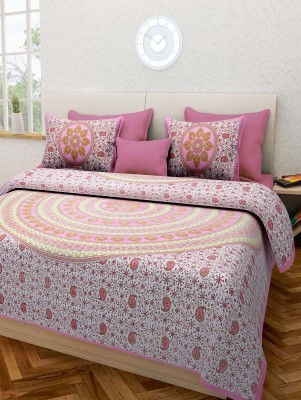 Arihant Textiles Cotton Printed King sized Double Bedsheet