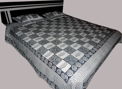 RK RAAG RANG Cotton Motifs King sized Double Bedsheet